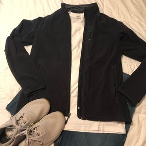 Black Adidas fleece jacket